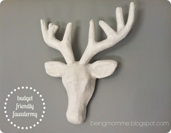 DIY Wall Decor Faux Deer Head