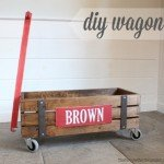 Industrial Wood Storage Wagon for Kids