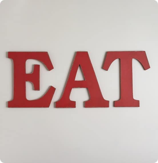 "Eat Wall Decor pretty in pink ""eat"" wall letters"
