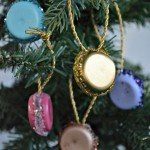 French macaroon handmade ornaments