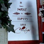 Have Yourself a Merry Little Christmas Pottery Barn knock off sign