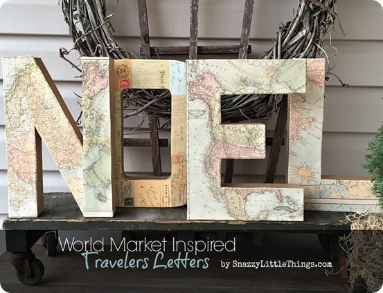 Map Christmas Letters