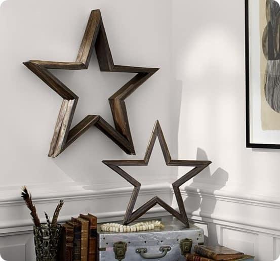 Rustic Wood Wall Stars
