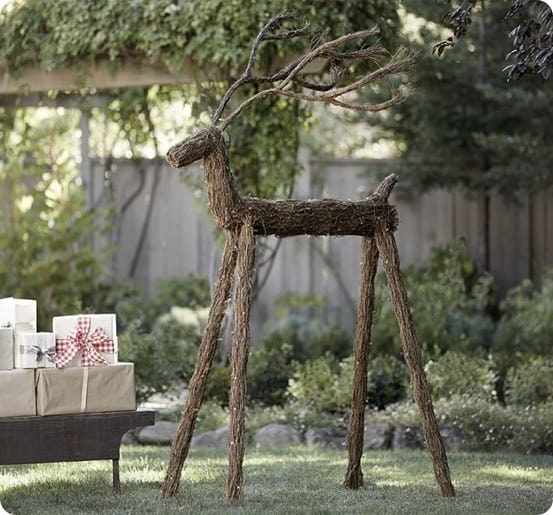 Outdoor Lit LED Twig Deer from Pottery Barn