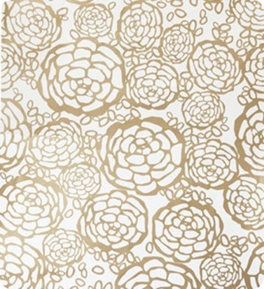 Petal Pusher Ivory and Gold Wall Paper Oh Joy