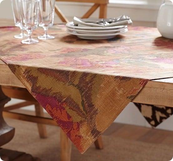 Pottery Barn Autumn Layers Table Throw