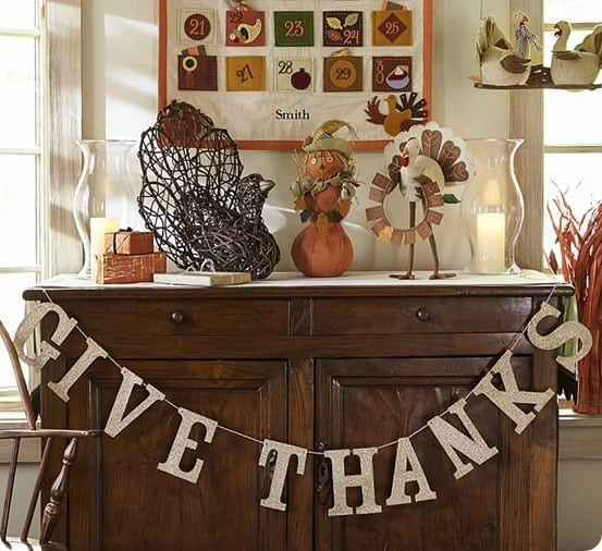 Pottery Barn Give Thanks Glitter Garland