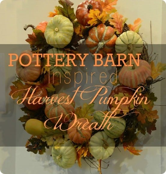 Pottery Barn Inspired Fall Harvest Wreath