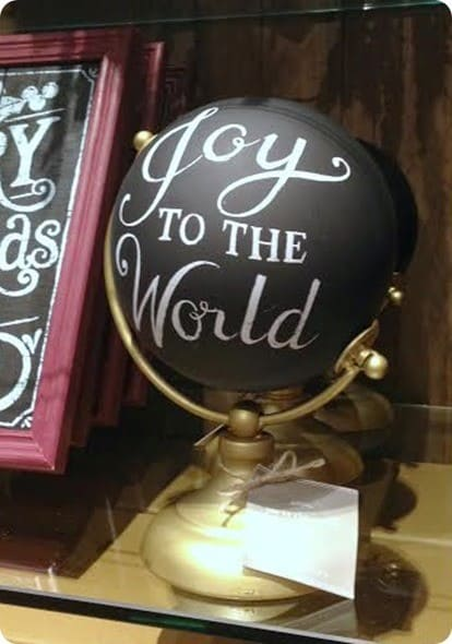 Pottery Barn Joy to the World Globe