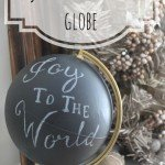 """Joy to the World"" Chalkboard Globe"