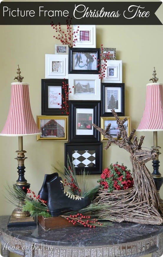 Pottery Barn inspired Picture Frame Christmas Tree