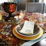 Thanksgiving Table Throw for a Layered Look