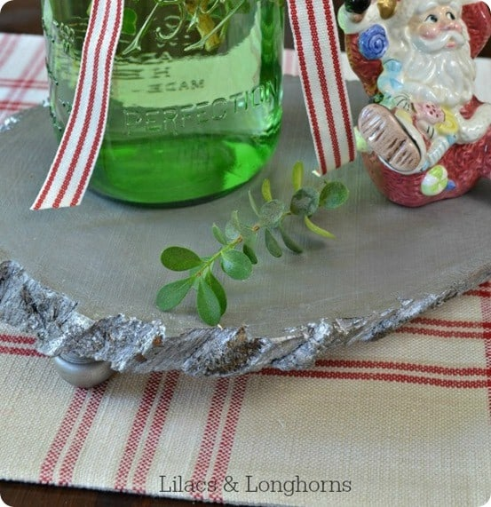 Pottery Barn inspired silver wood riser