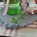 Silver Wood Dining Table Riser