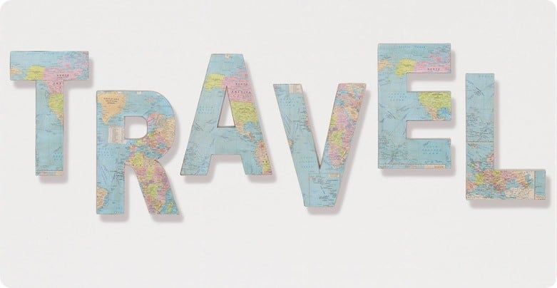 Travel Paper and Fabric Letters
