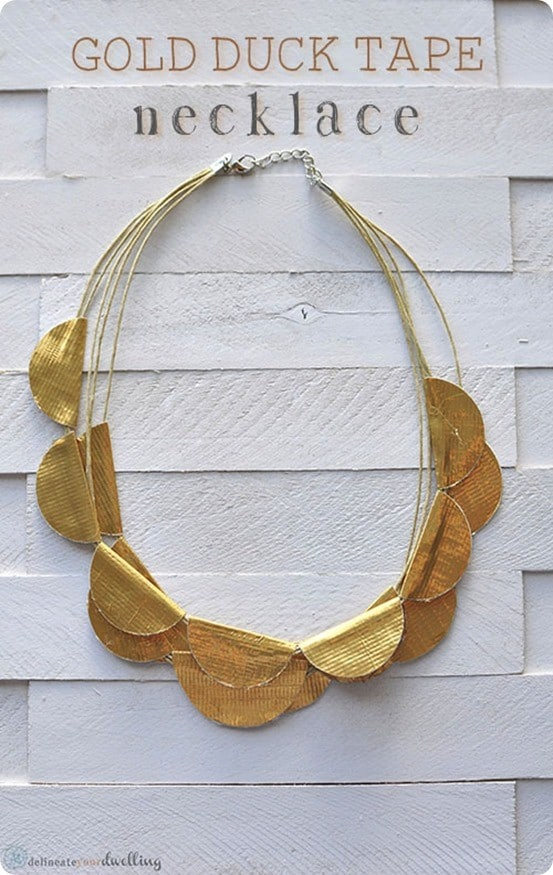 duct tape necklace inspired by anthropologie