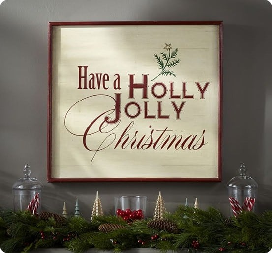 Holly Jolly Sign Wall Art