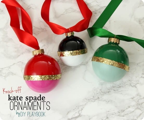 Kate Spade knock off Christmas ornaments