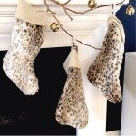 Faux Fur Christmas Stocking
