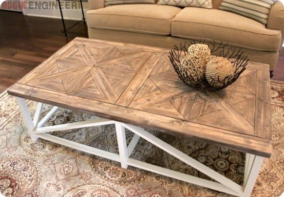 Restoration Hardware Inspired X Base Parquet Table