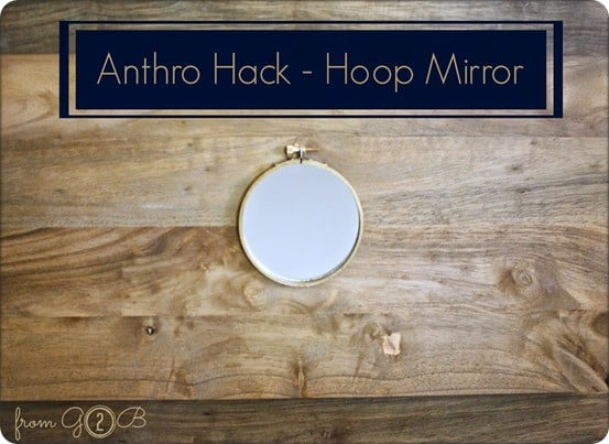 anthropologie inspired hoop mirror