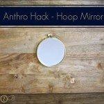 Embroidery Hoop Wall Mirror