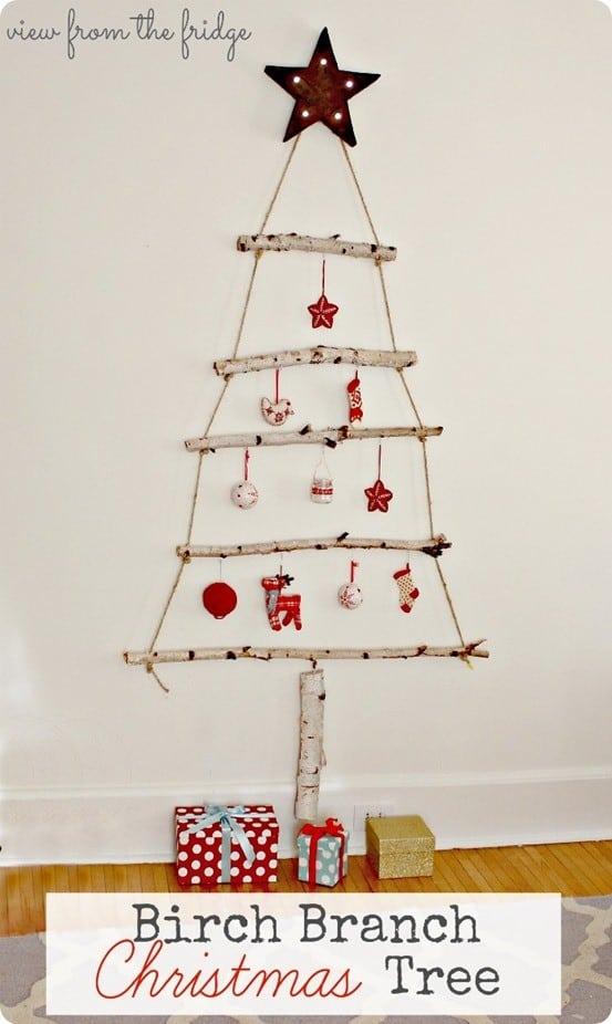birch branch christmas tree alternative
