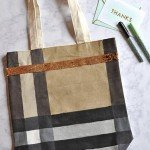 Plaid Painted Canvas Tote {Handmade Christmas Gift #5}
