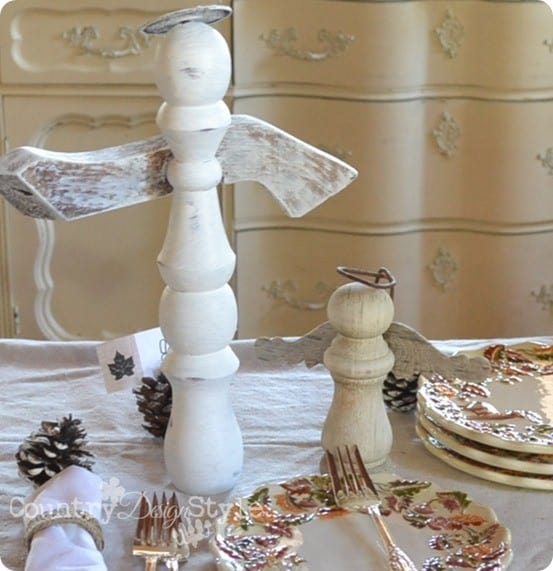diy christmas decorations spindle angels