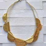 Gold Duck Tape Necklace {Handmade Christmas Gift #1}