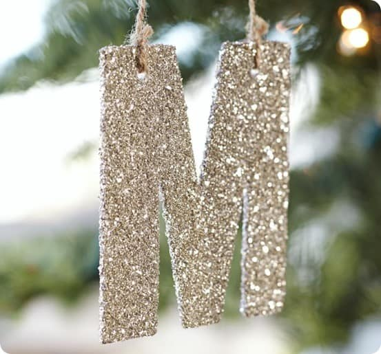 Glitter Christmas Ornaments and Garland