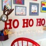 "Glossy Red ""HO HO HO"" Wall Letters"