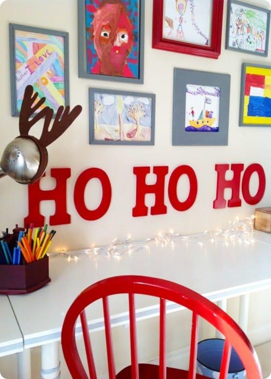 Glossy Red Ho Ho Ho Wall Letters Knockoffdecor Com