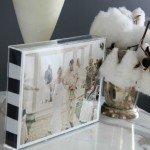 Black and White Stripe Picture Frame {Handmade Christmas Gift #7}