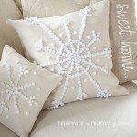 Sparkly Snowflake Pillow
