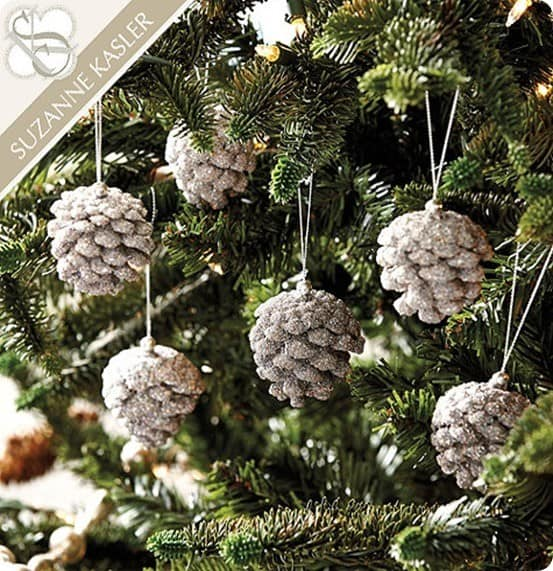 suzanne kasler beaded pinecone ornaments