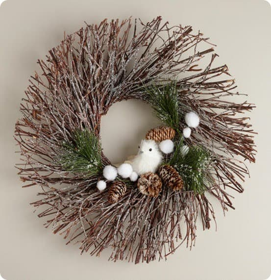 494118_AE WREATH WHT BIRD