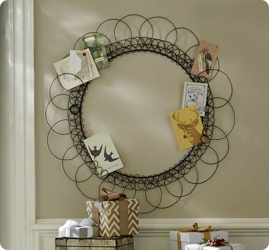 wreath card holder from pottery barn