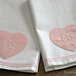 Heart Monogram Valentine's Towels