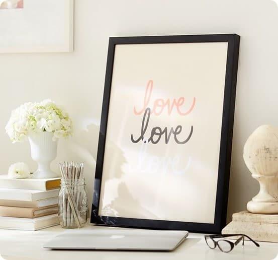Stephanie Sterjovski framed print love love love