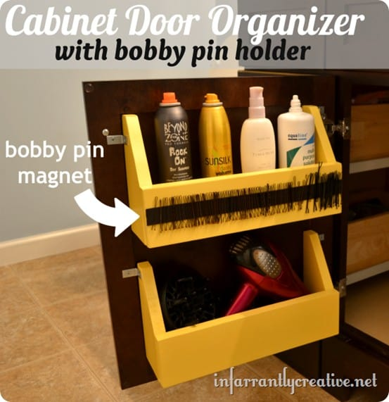 cabinet door organizer