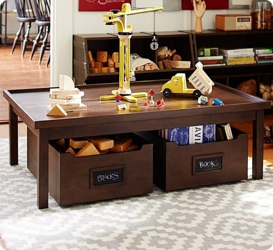 Kids Play Table With Storage Carts Knockoffdecor Com