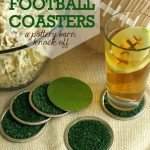 Football Coasters for a Super Bowl Party