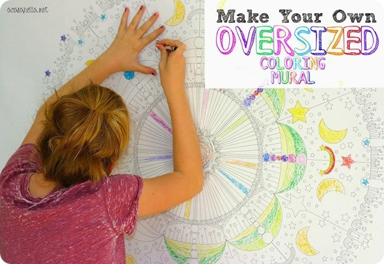 diy oversized coloring mural
