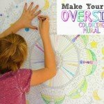 Oversized Coloring Wall Mural