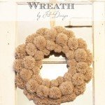 Fluffy Pom-Pom Winter Wreath