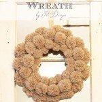 Fluffy Pom-Pom Winter Wreath