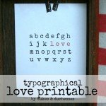 Typographic Love Print for Valentine's Day