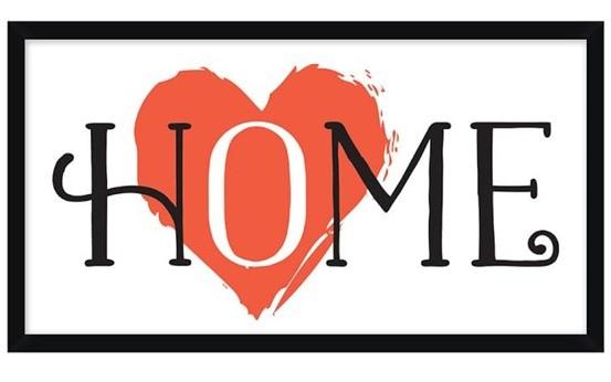 heart in home framed print