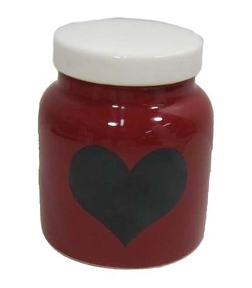 holiday inspirations red heart jar